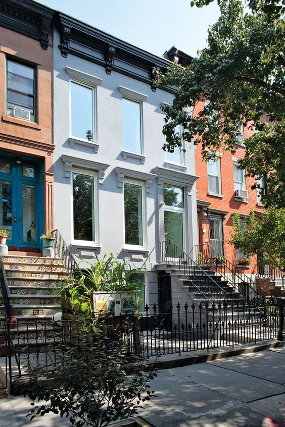 A sustainable brownstone transformation in brooklyn new for Stucco facade