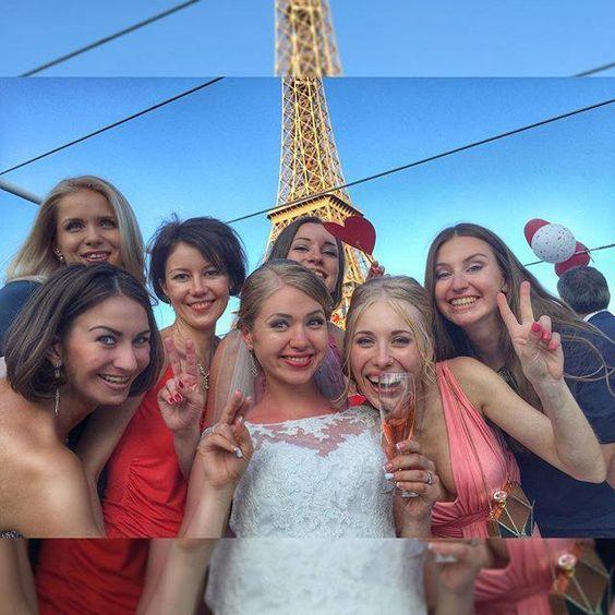 Les filles  #CoudretWedding #MariageCoudret #свадебныйспам #IrinaMathieu2015 by julie_tret Eiffel_Tower #France