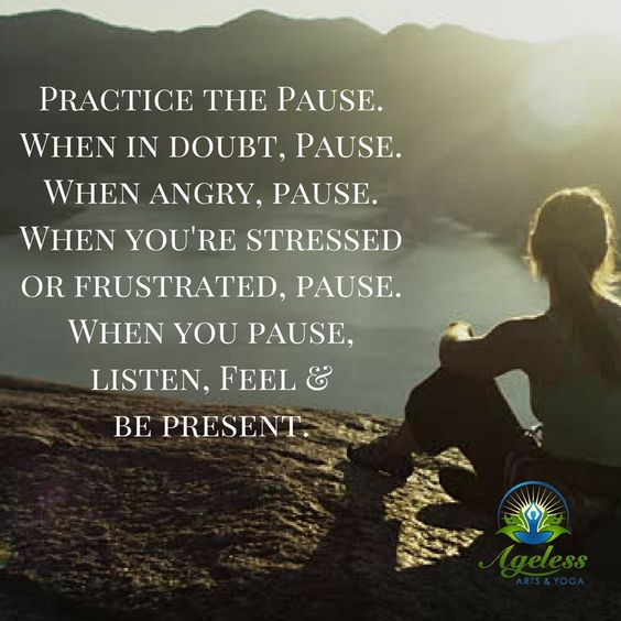 Practice the PAUSE #AgelessArtsYoga