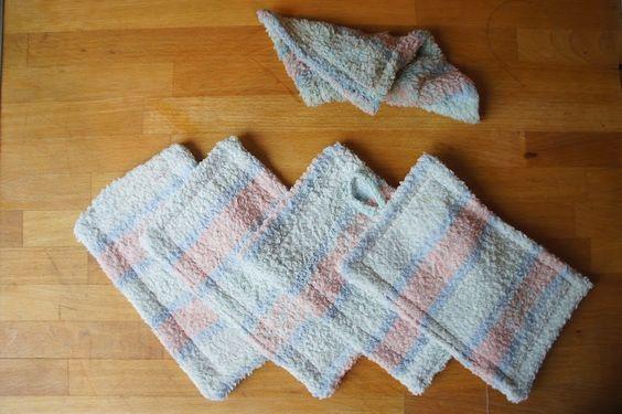 Spüllappen aus altem Handtuch / Dish cloths made from old towel / Upcycling