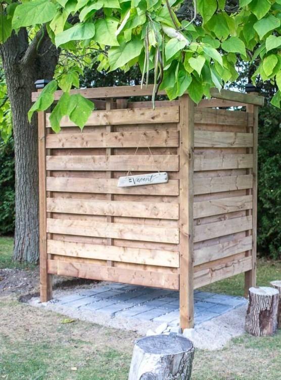Outdoor Shower Stall Diy Outdoor Shower Enclosure Outdoor