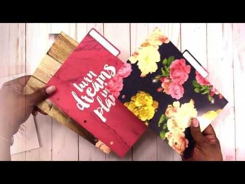 Pink Floral on Navy Traveler/'s Notebook Agenda 52 The Paper Studio
