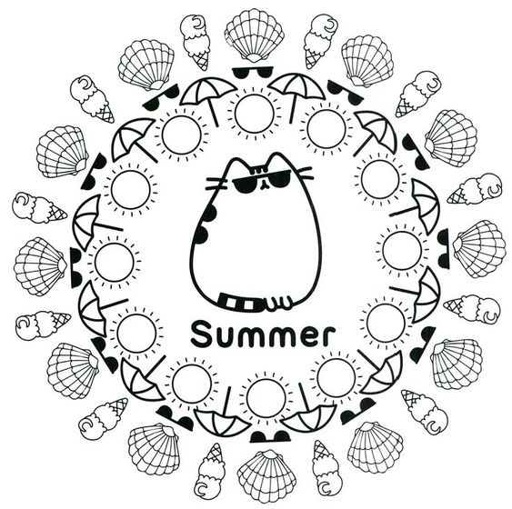 Summer Coloring Pages For Kids Print Them All For Free Pusheen Coloring Pages Summer Coloring Pages Coloring Pages For Teenagers