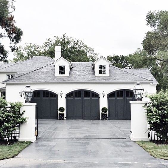 Pin By Sarah Young On Exterior Garage House Exterior Garage Door Design House Styles