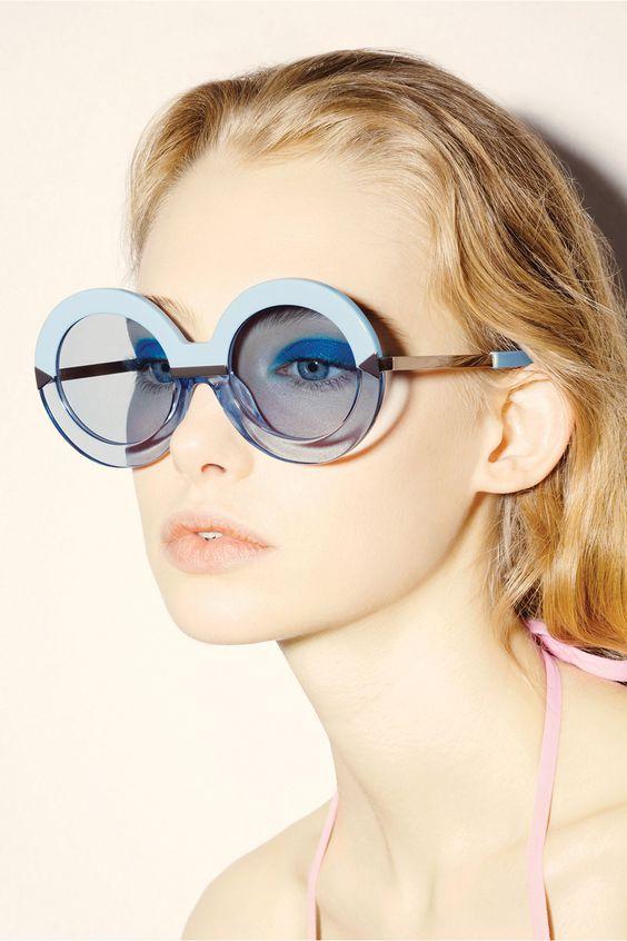 Hollywood Pool Sky Blue - Karen Walker Eyewear | Karen Walker
