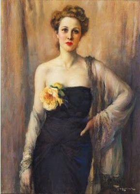 Fernand Toussaint (Belgian artist, 1873-1955) Elegant Lady