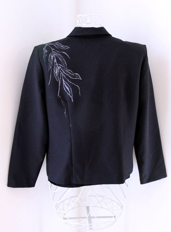 Handpainted jacket - back