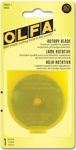 OLFA 9455 RB60-1 60mm Rotary Blade, 1-Pack