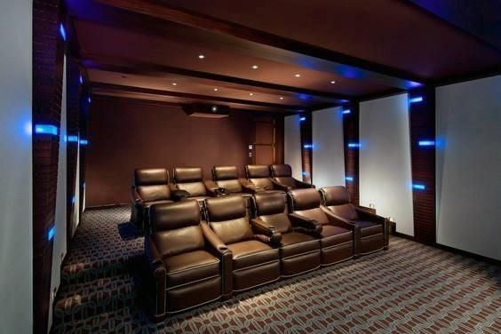 Top 40 Best Home Theater Lighting Ideas Illuminated Ceilings And Walls In 2020 Small Home Theaters Home Theater Design Home Theater Seating