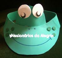 Projeto Missionários da Alegria : Passo a passo Viseiras de bichinhos