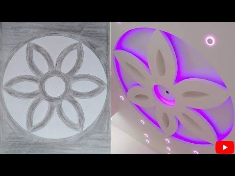 طريقة رسم وردة جبس بورد Youtube Ceiling Decor Ceiling Design Decor