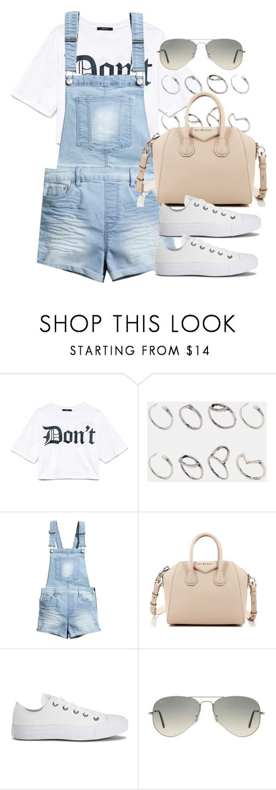 """Style #10416"" by vany-alvarado ❤ liked on Polyvore featuring Forever 21, ASOS, H&M, Givenchy, Converse and Ray-Ban"