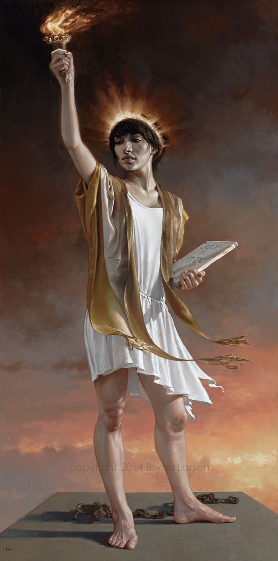 Bryan Larsen - 'Unshackled'  2014   18x36 inches   oil on linen: