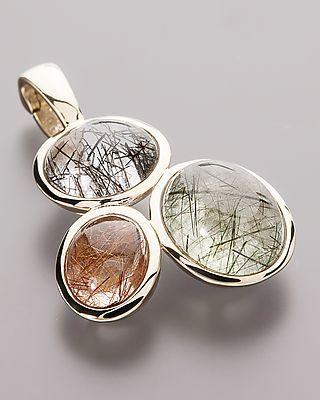 Sogni d'oro Anhänger mit Rutilquarz - #schmuck #jewellery #sognidoro #sogni #d´oro #anhänger #pendant