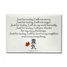 Reiki Principles Rectangle Magnet