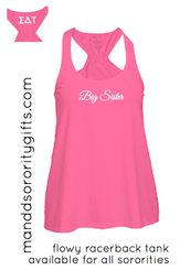 Gotta have it! Cotton pink Sigma Delta Tau Big Sister Tank Top.