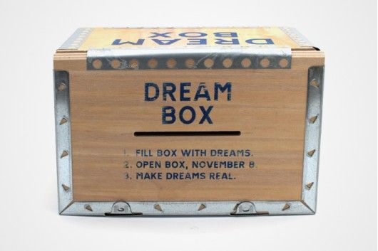Dream Box: fill with your dreams.. open on a later date.. make dreams real. :)