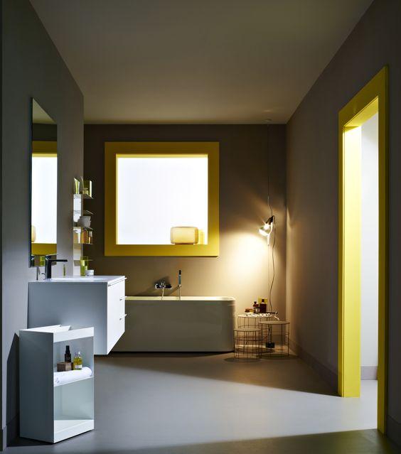 Voy Al Baño Color Amarillo:El color amarillo para la decoración en tu sala de baño puede ser