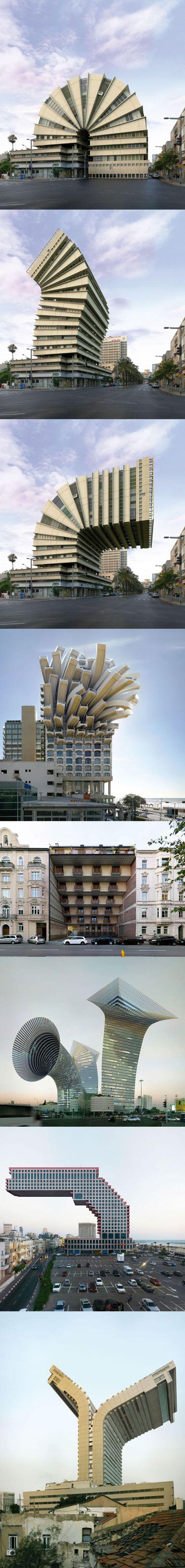 Les détournements architecturaux étonnants de Victor Enrich.