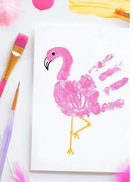 Met handverf een flamingo maken? Zo gepiept!