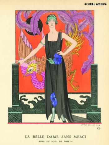 La Belle Femme Sans Merci.  Evening dress by Worth