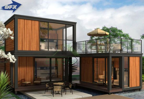 Hot Item Luxury Modular Living New Model Villas Portable Shipping Prefabricated Mobile Wooden Container Dorm House With Mobile Toilet Prefab Container Homes Container House Container House Plans