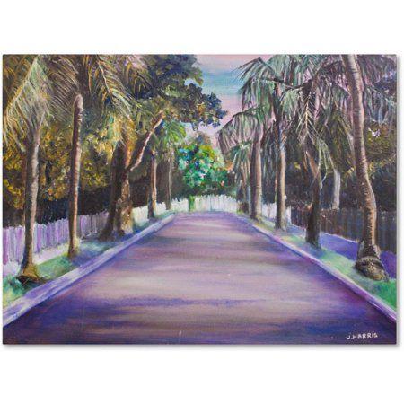 Trademark Fine Art Key West Street Canvas Art by Judy Harris, Size: 18 x 24, Multicolor