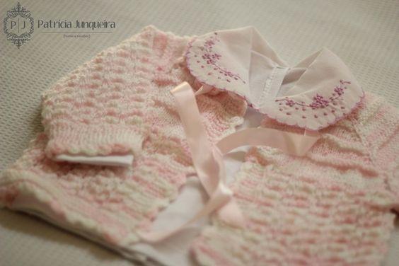 Roupas -  Casaquinho lã para bebê feito a mão