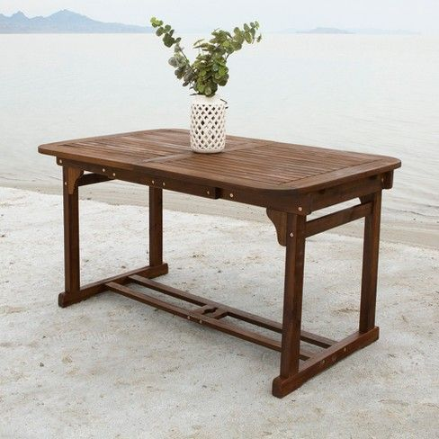 Extendable Outdoor Dining Table Saracina Home Butterfly Dining