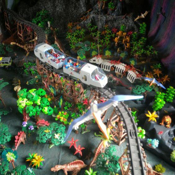jurassic park en playmobil - par dominique bethune - exposes des playmobil
