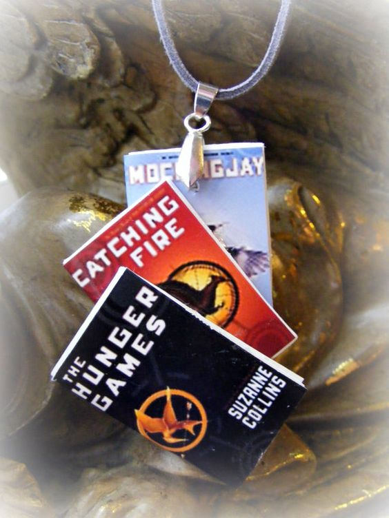 Necklace The Hunger Games Trilogy by Mindiemay on Etsy, $17.99