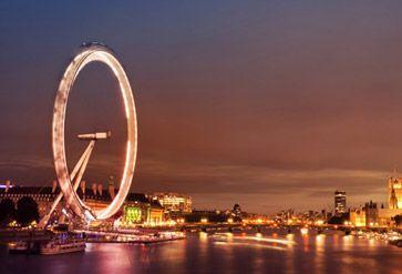 London at twilight