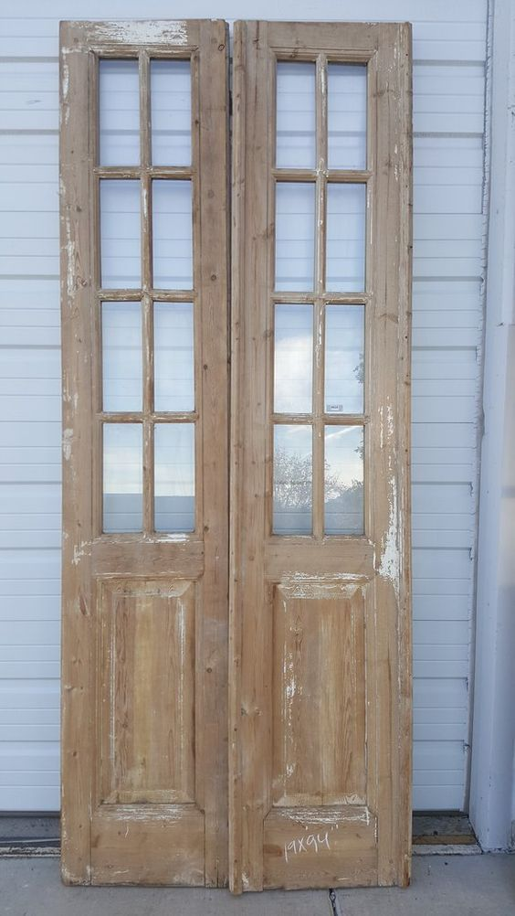 8 Panel Wood And Glass French Door Pantry Glass French Doors Antique French Doors Wood French Doors