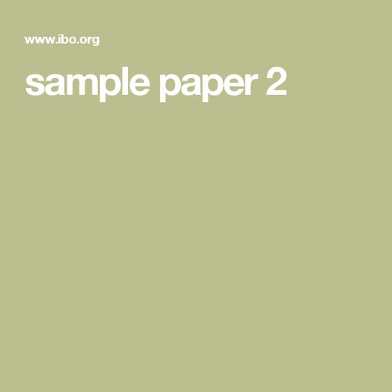 sample paper 2 IB French Pinterest D and Paper - sample paper