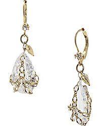 Drop Earrings - Shop Women's Fashion Earrings from Betsey Johnson briolette crystal earring $35