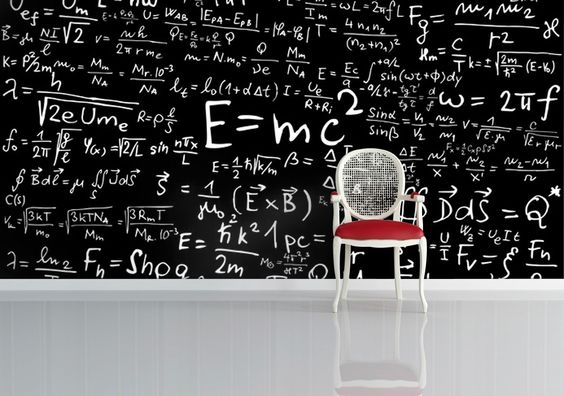 'Blackboard' wallpaper design by Welk available at wallpapered.com: