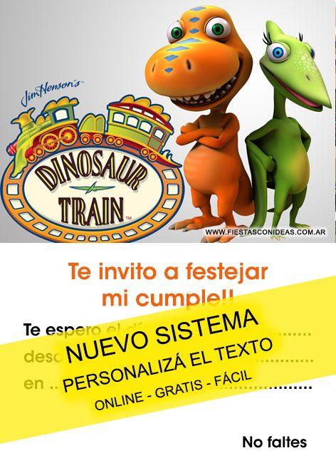Dinotren Tarjeta De Cumpleaños Para Imprimir