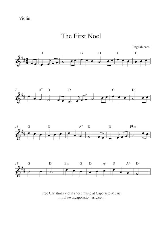 the first noel chords pdf