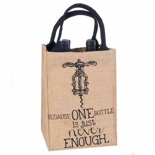Burlap Bottle Bag from Wine Branch