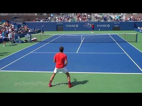 Federer V Mcdonald 2017 Us Open Practice 4k Youtube In 2020 Us Open Tennis Tournaments Tennis