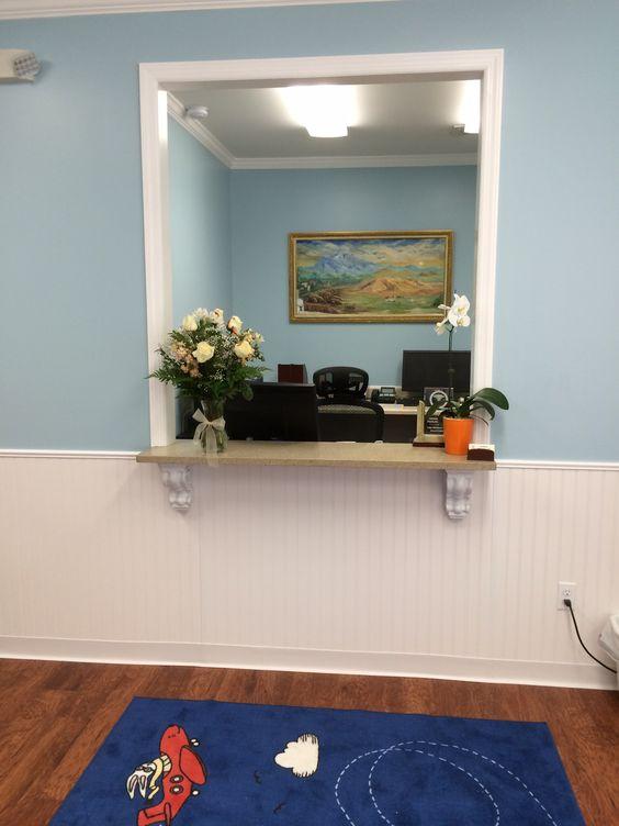 Reception Window New Office Pediatric