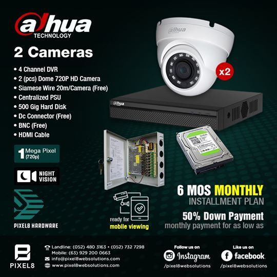 Featuring Dahua Technology Cctv Camera Packages Starting At 8 500 00 Dahua Continuously Invests In The Technology Hd Camera Surveillance System Cctv Camera
