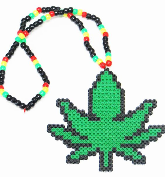 Rasta Weed Kandi Necklace