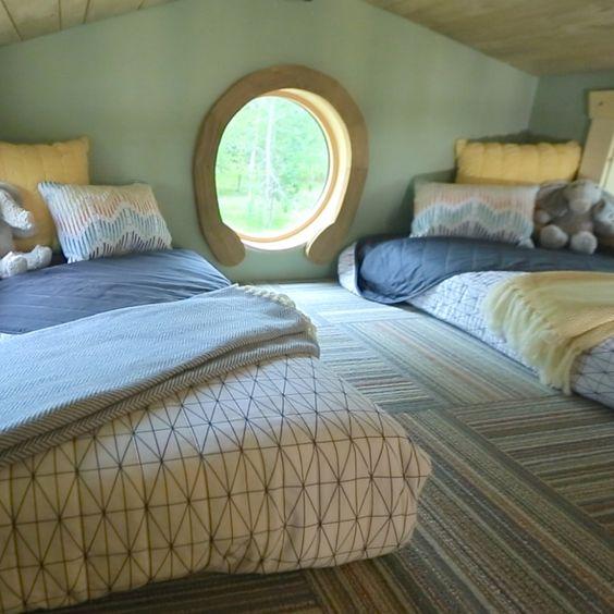 Loft Tiny house and Sleeping loft on Pinterest