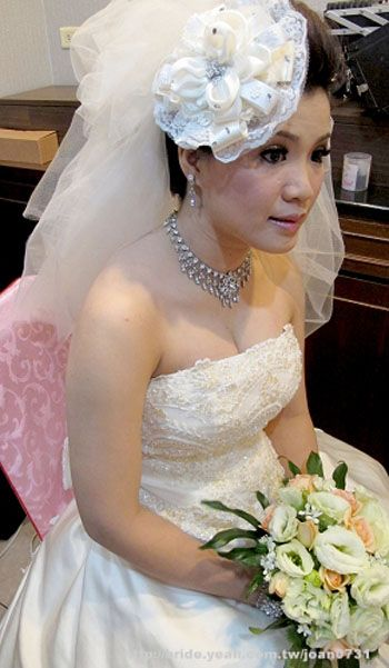bridal hairstyle amp bridal gown wedding dress yeah