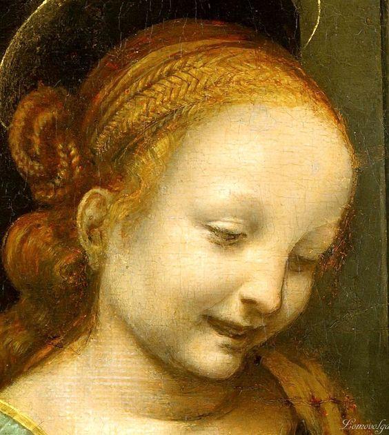 Da Vinci Leonardo Benois Madonna (detail):