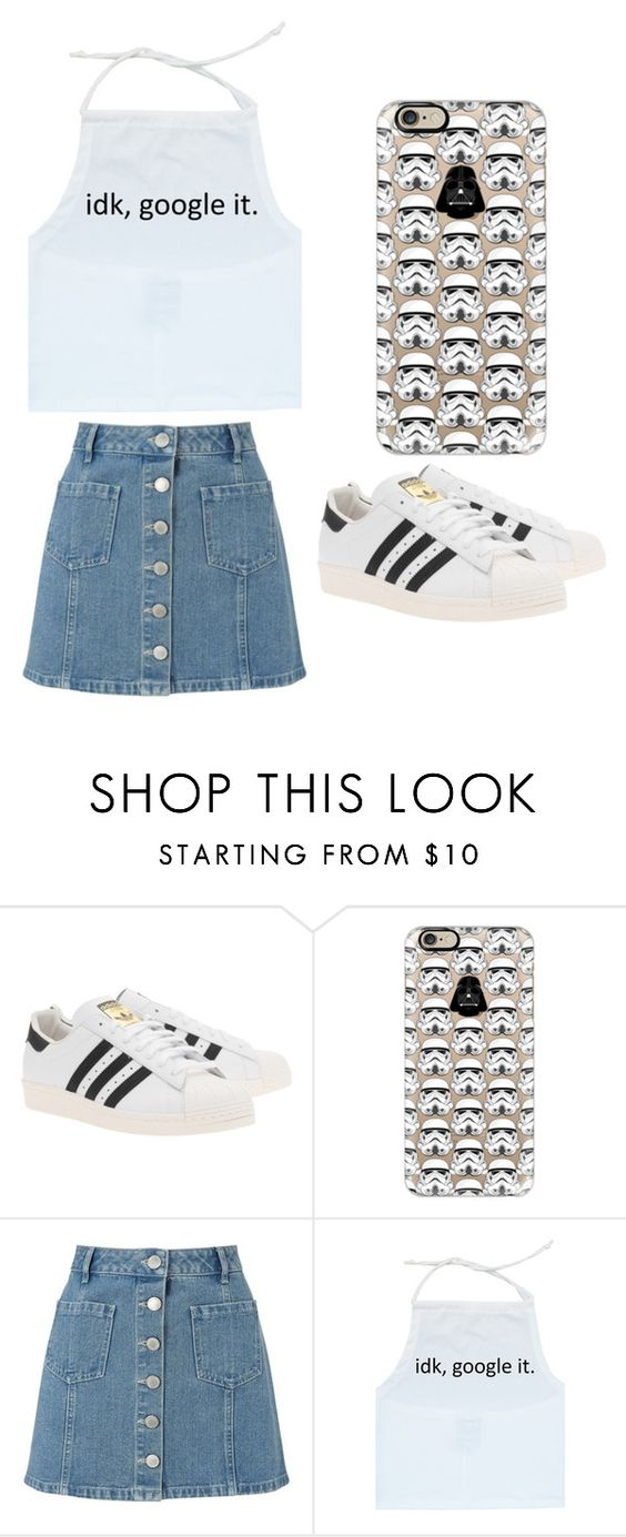 """""""Outfit Idea by Polyvore Remix"""" by polyvore-remix ❤ liked on Polyvore featuring adidas Originals, Casetify and Miss Selfridge"""