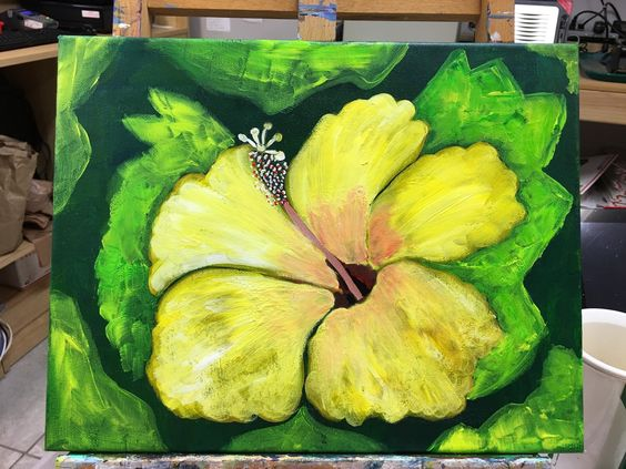 A personal favorite from my Etsy shop https://www.etsy.com/listing/288553153/key-west-yellow-hibiscus-flower-on-11-x