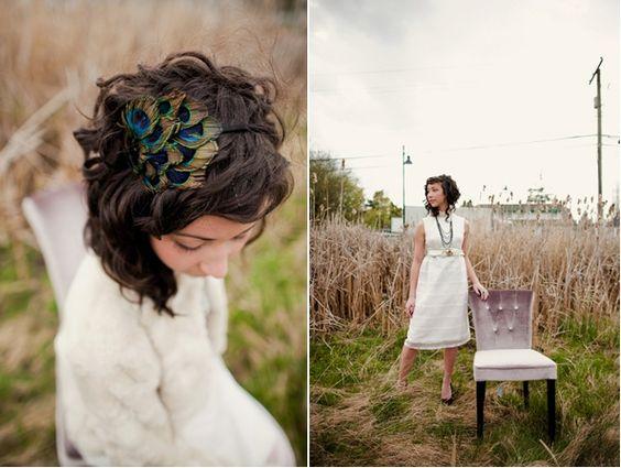Des plumes de paons dans les cheveux ?