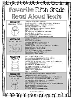 Wild about fifth grade: Favorite Fifth Grade Read Aloud Texts